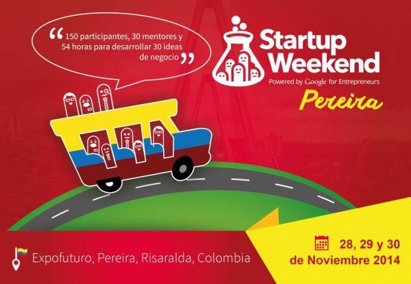 Invitación Startup Weekend Pereira (Colombia)