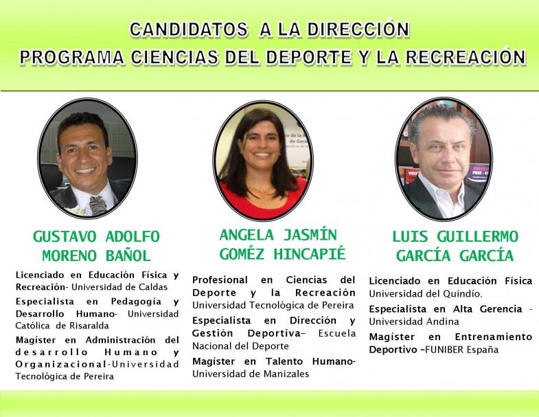 Candidatos Dirección del programa CDR 2015