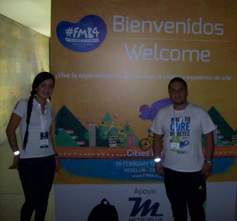 Alejandra Galvis Estudiante  C.D.R. en el 4to Foro  Mundial de la Bicicleta.