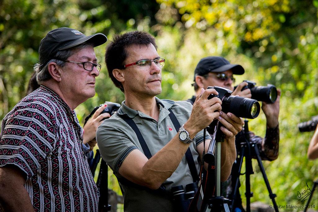Docente y Estudiantes del Curso de Fotografía de la Naturaleza