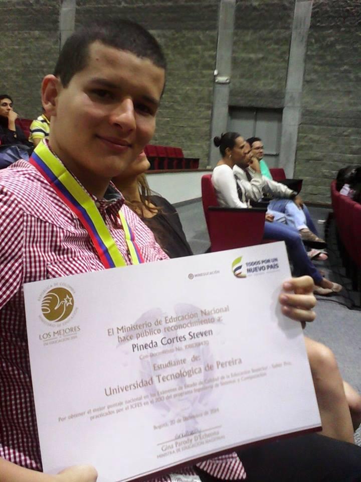 Steven Pineda Cortés de Ingeniería de Sistemas y Computación