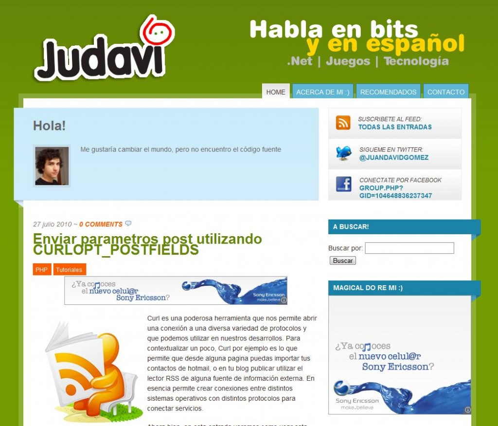 imagen de judavi habla en bits y en español